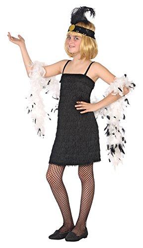 Imagen de disfraz de charleston swing negro para niña m 7/9a