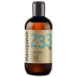Naissance olio di Jojoba d'Oro 250ml - puro al 100%, Pressato a Freddo, Vegan, Cruelty Free, senza OGM, per l'idratazione della pelle e dei capelli