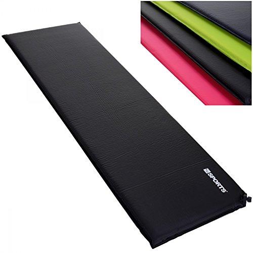 LCP Sports Adventure Selbstaufblasende Luftmatratze Isomatte LxBxH 200 x 66 cm x 10 cm schwarz auch in 3 oder 6 cm verfügbar