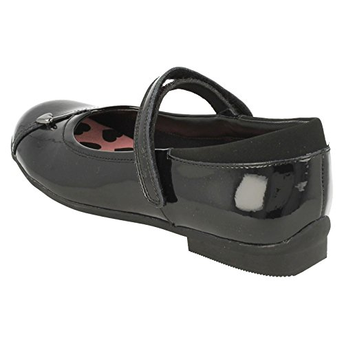 Clarks Dolly Babe Jnr, Ballerines fille Black Patent