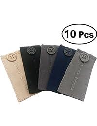 healifty Lot de 10 pantalons boutons Extender Pantalon Rallonge pour Short  en Jean pour femme robe 94c8c795d37e