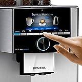 Siemens TI9575X1DE EQ.9 plus connect s700 Kaffeevollautomat, 1500 W, HomeConnect, 2 Bohnenbehälter, großes TFT-Display, Baristamodus, Edelstahl Vergleich