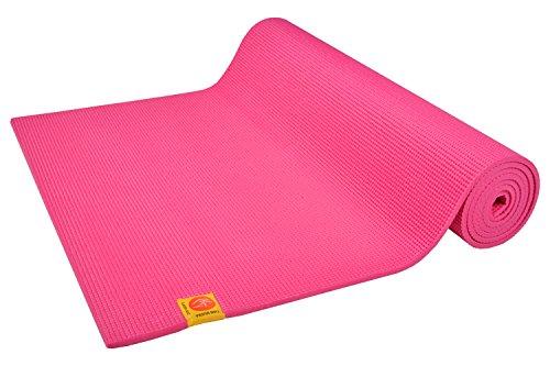 Tapis de yoga Confort Non-Toxique 6mm - Rose Indien