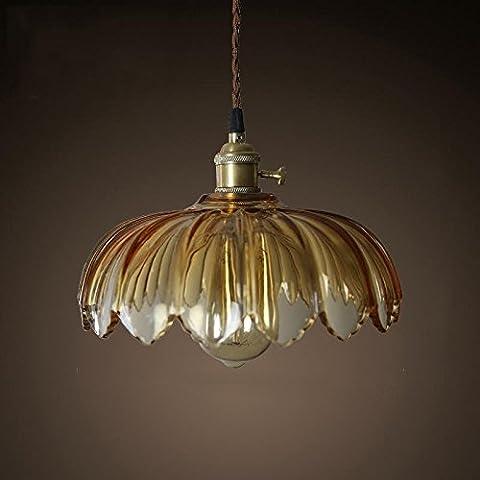 BBSLT Nordic candelabros de cristal restaurante vintage personalidad Lotus lamp faro único salón 260*200mm , amarillo