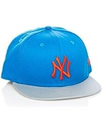 New Era - Casquette Snapback Homme New York Yankees 9Fifty Seasonal Pop - Blue / Grey / Orange