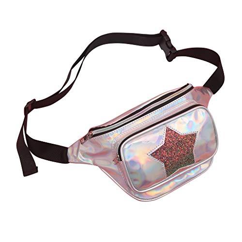 Lonshell Bauchtasche Modern Brusttasche Damen Mädchen Clutch Glitzer Handtasche Trachtentaschen Umhängetasche Dirndl Bumbag Gürteltasche Hüfttasche Botetasche