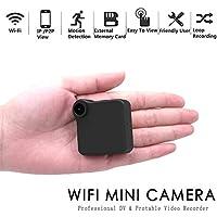 ADHOSJO Mini Web escondida cámara, WiFi Video grabadora de Sonido Multi portátil Full HD 1080P H. 264 Micro DVR acción detección de Movimiento WiFi Flexible cámara de detección de Movimiento