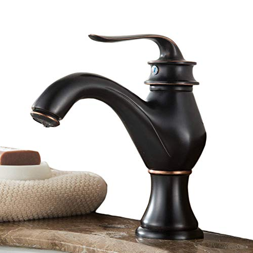 Wasserhahn Waschbecken Armatur Bad Mischbatterie Waschtischarmatur Badarmatur Einhandmischer Waschtisch Armaturen Badezimmer,Öl rieb Bronze