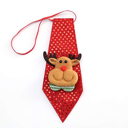 (Krawatte Party Zubehör Jungen Kreative Weihnachten Fliege Kinder Party Tanz Dekoration Für Kinder (Elch))