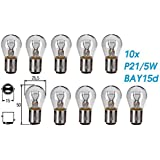 Jurmann Trade GmbH/® 10x St/ück R10W 12V 10W BA15S Blinkleuchte Halogen Lampen Autolampen KFZ-Beleuchtung Birne