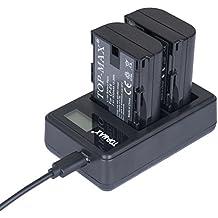 TOP-MAX® 2 LP-E6 Batería Rercargable + Cargador Doble Para Canon EOS 5D Mark II, EOS 5D Mark III, EOS 5DS, EOS 6D, EOS 7D, EOS 60D, EOS 60Da, EOS 70D