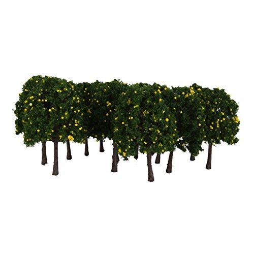 20pcs-1-100-modelo-arbol-frutal-paisaje-ferroviario-tren-plastico-verde-amarillo-6cm