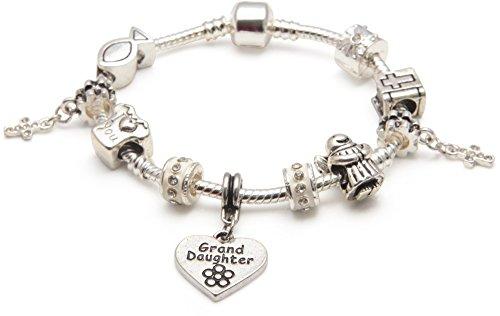Liberty Charms Kinder/Mädchen/Teenager ersten heiligen Kommunion, Taufe, Charm/Perlen Armband für Grand-Daughter