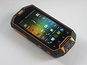 BWC Smart&Tough 4.3 pouces d'écran robuste ToughSlate Android - IP67 téléphone portable robuste avec Android 4.0.3 Ice Cream Sandwich, fentes de double carte SIM et PTT Talkie Walkie