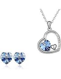 Bisutería Love corazón cristal Swarovski® Elements azul lago