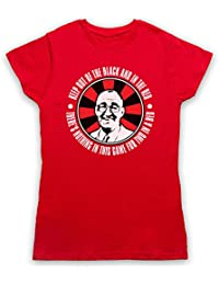 Inspired by Bullseye Jim Bowen Out Of Black In The Red Unofficial Womens T-Shirt