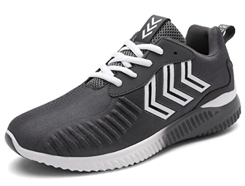 Men's Stretch Fabric Breathable Outdoor Athletic Running Shoes Grey