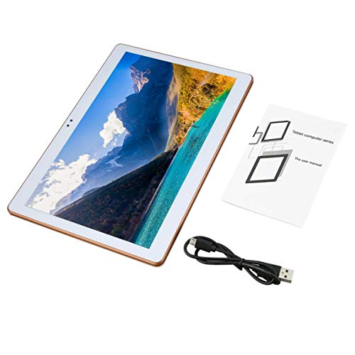 Wafalano Tablet, 3G Quad-Core-Kunststoff 9,6 Zoll Tablet 1 + 16G weiß