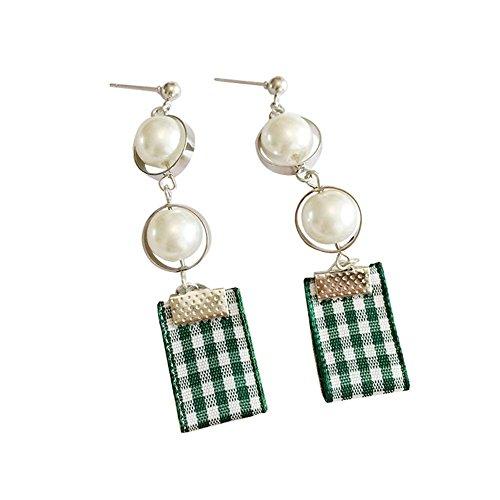 1 paire classique boucles d'oreilles assorties Boucles d'oreilles de mode, vert