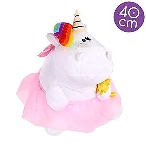 Pummeleinhorn Pummelfee Peluche Color weiß, Regenbogen, Rosa, Gelb PE11004