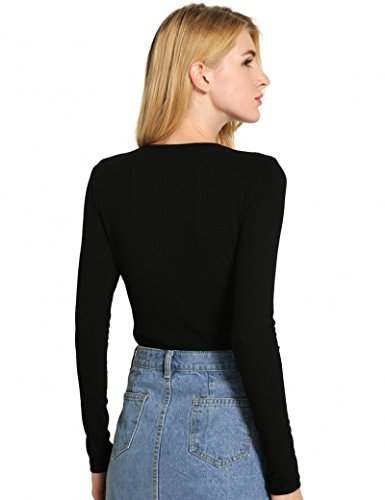 Ma Coquette Damen Slim Leg T-Shirt Schwarz