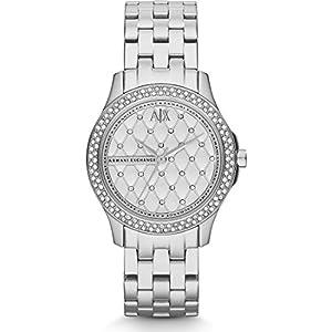 Armani Exchange Damen-Uhren Analog Quarz Edelstahl 32002578