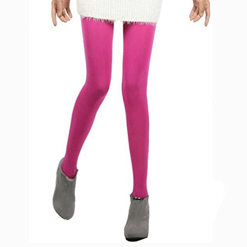 UFACE Strümpfe Strumpfhosen Frauen Reizvolle Autumn Burnish Opaque Strumpfhosen Candy Farbe Leggings Strumpfhosen Trampel (Pink, One Size) (Armani-gestreifte Jeans)