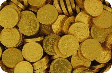Milk Chocolate 22mm Gold £1 Coins