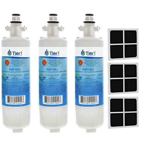 Tier1LG LT700P, Kenmore 46-9690, ADQ36006101, adq36006102, und lt120F Wasser und Luft Filter Combo, 3Pack - Filter Lg Air Kühlschrank