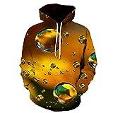 3D Digital Print Sweatshirt Hoodie Pullover Herrenmode Lässig Realistische Muster