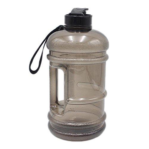 seasaleshop Water Jug 2,2 L Fitness Trinkflasche Sports Wasserflasche Fitness Bottle BPA Frei Große Gym Trinkflasche für Gym|Diät|Bodybuilding|Outdoor Sport|Wandern|Büro -