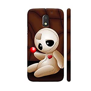 Colorpur Voodoo Doll Cartoon In Love Designer Mobile Phone Case Back Cover For Motorola Moto E3 / Moto E3 Power | Artist: BluedarkArt