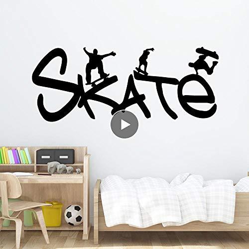 Pegatinas De Pared Skate Cartoon Tatuajes De Pared