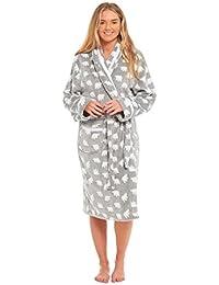 MyShoeStore Ladies Bear Dressing Gown Pyjamas Set Womens Polar Micro Fleece  Nightwear PJS Lounge Wear Bathrobe Warm Night Wear… 1844f64b2