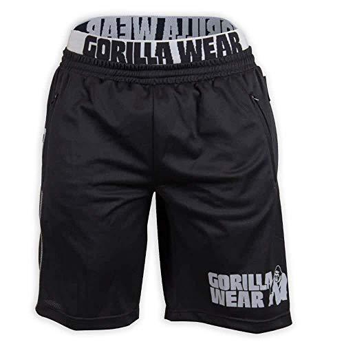 Gorilla Wear California Mesh Shorts - schwarz/grau - Bodybuilding und Fitness Short für Herren, XXL/XXXL