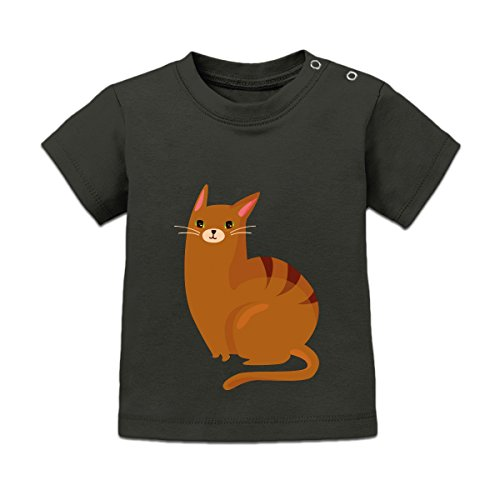 Character Baby T-shirt (Brown Cat Character Baby T-Shirt by Shirtcity)