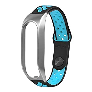 Bloodfin für Tomtom Touch Armband, Silikon Uhrenarmband Weiches Ersatzband Sport Zubehörteil Einstellbare Schnellverschluss Armbänder Atmungsaktive Wristband Klein Groß Damen Herren