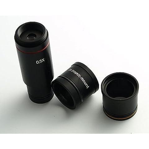 Microscopio kameraadapter Cámara Adaptador de 0,5x para c Mount microscopios, 23mm, 30mm, 30,5mm