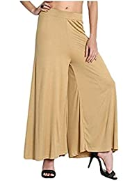 Designer Plain Stretchable Casual Wear Palazzo Pant For Modern Women And Girls