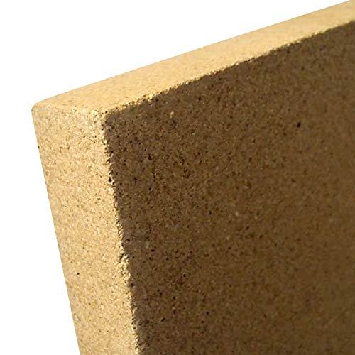 Indoba Platte SF1100 Hitzeschutzplatte Schamott Ersatz Vermiculite, Natur