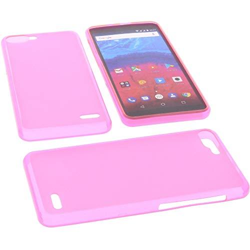 foto-kontor Tasche für Archos Core 55s Hülle Gummi TPU Schutz Handytasche pink
