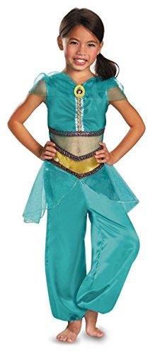 Disguise Disney Aladdin Jasmine Sparkle Classic Girls Costume, 7-8