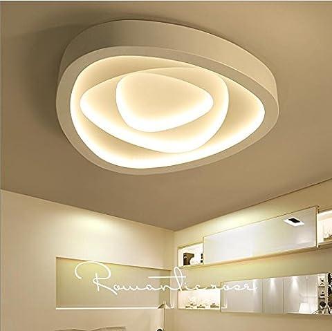 Lilamins Lampe de plafond Led Lights Chambres Light-Artistic la créativité de plafond de la personnalité romantique chaleureuse lumière Salon lampes modernes, grand blanc 60cm 2-Tone-Kwong