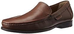 Ruosh Mens Tan Leather Formal Shoes - 8 UK/India (42 EU)(9 US)