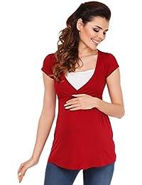 Zeta Ville - Jersey 2 en 1 Enfermería T-shirt Top de maternidad - mujeres - 373c