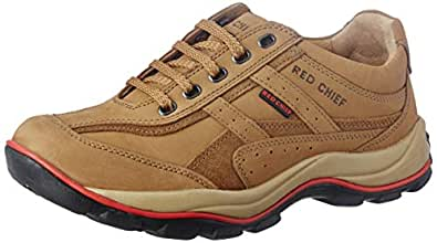 Redchief Men's Rust Leather Trekking and Hiking Footwear Shoes - 6 UK (RC2020 022)