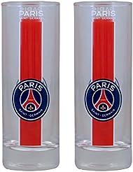 2 x Verre à eau tumbler PSG - Collection officielle PARIS SAINT GERMAIN