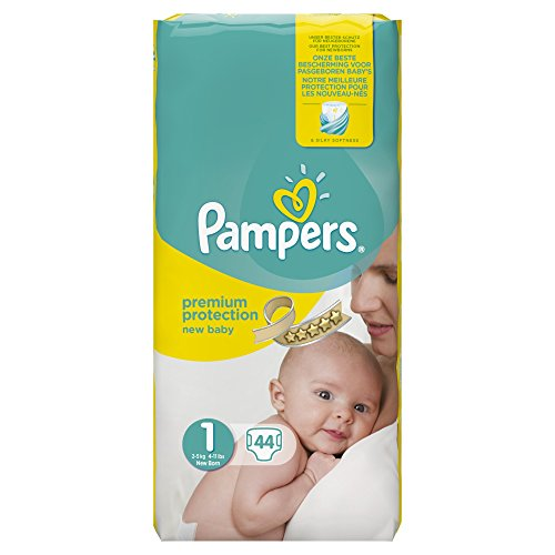 Pampers Premium Protection New Baby Size 1 (2-5 kg) Nappies for Babies - Set of 2