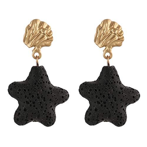 UINGKID Damen Ohrringe Mode Ohrstecker Vintage Neue Trend Einfache Stein Sterne Quadrat Weiblich - Ananas Grenze