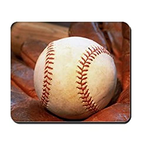 CafePress - Baseball And Glove - Non-slip Rubber Mousepad, Gaming Mouse Pad